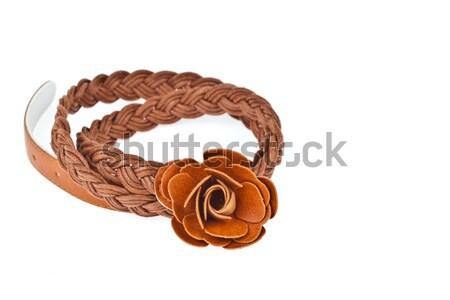 brown belt  on white background Stock photo © FrameAngel