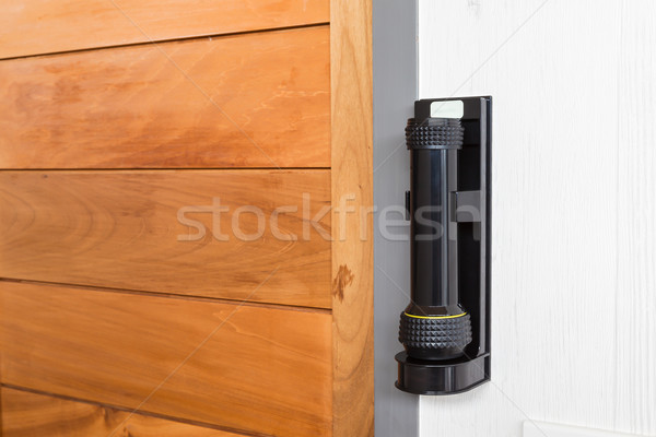 emergency flashlight at door for urgent case Stock photo © FrameAngel
