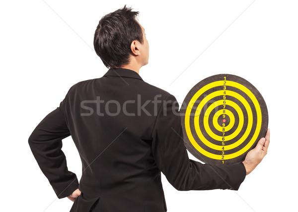 businessman holding target Stock photo © FrameAngel