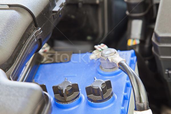 Batterie composante voiture moteur travaux pétrolières Photo stock © FrameAngel