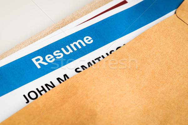 List brązowy puszka rekrutacja działalności Zdjęcia stock © FrameAngel