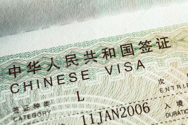 паспорта штампа визы путешествия китайский безопасности Сток-фото © FrameAngel