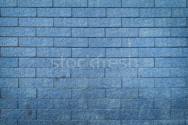brick wall texture background, blue color Stock photo © FrameAngel