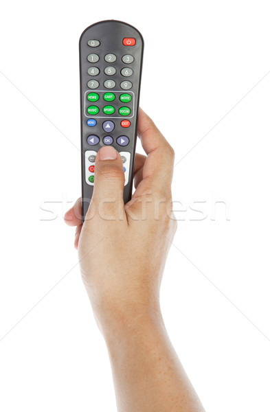 Receiver remote control. Isolated and hand Stock photo © FrameAngel