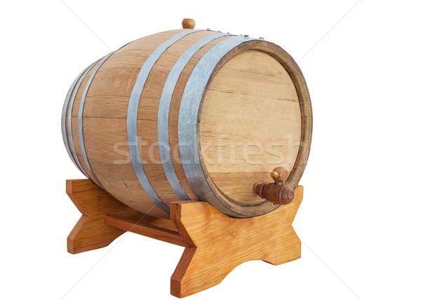 Vinho barril vinho branco branco fundo retro Foto stock © FrameAngel