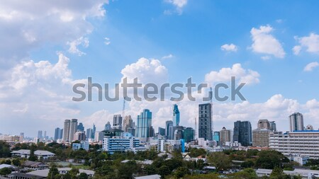 Cityscape business building city bangkok area and train MRT tran Stock photo © FrameAngel