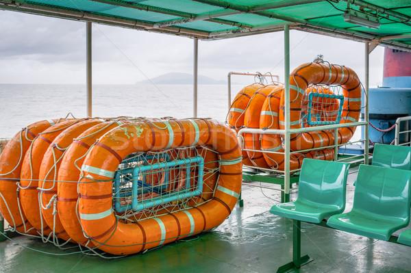 Cankurtaran simidi gemi tekne güvenlik güvenlik Stok fotoğraf © FrameAngel