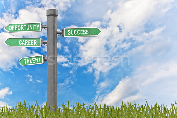 Success concept related words in sign Stock photo © FrameAngel