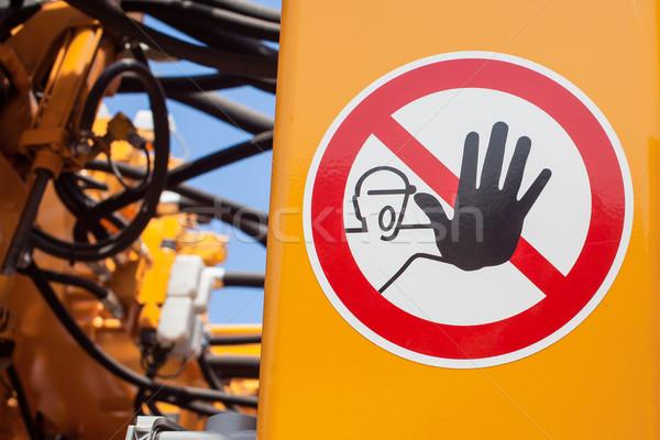 Warning sign Stock photo © FrameAngel