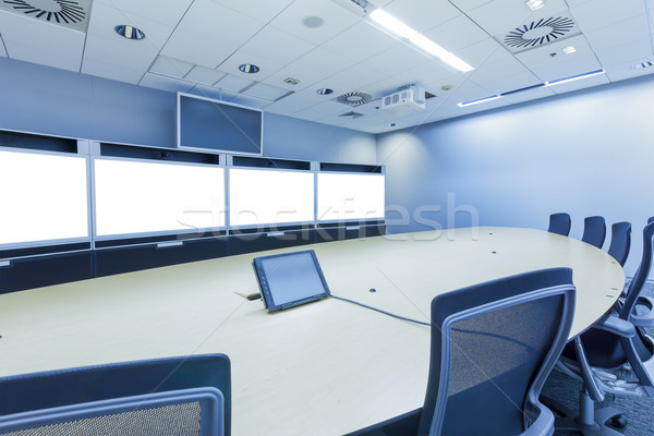 Stock photo: teleconferencing, video conference and telepresence business mee