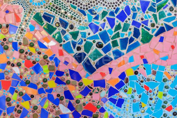 Sóder színes textúra mozaik minta absztrakt Stock fotó © FrameAngel