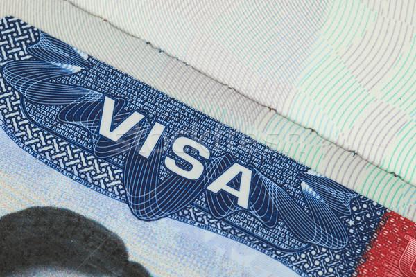 EUA americano visado textura viaje fondo Foto stock © FrameAngel
