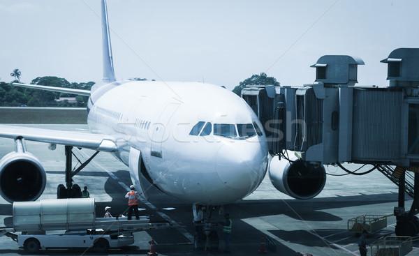 airport ground crew service Stock photo © FrameAngel