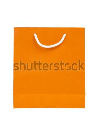 紙袋 オレンジ 色 紙 ショッピング 白 ストックフォト © FrameAngel