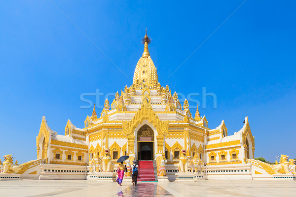 Temple names 'Swe Taw Myat', Buddha Tooth Relic Pagada, Yangon M Stock photo © FrameAngel