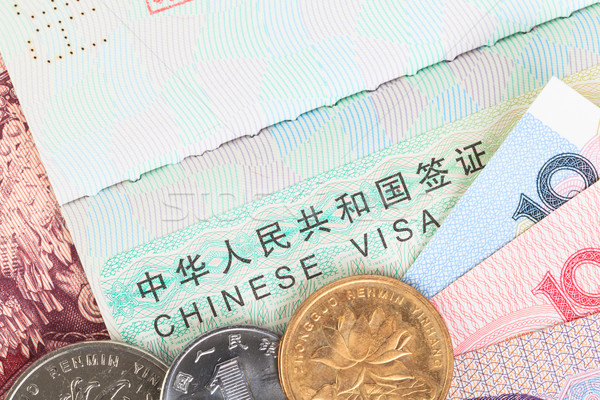 Chinese or Yuan banknotes money and coins from China's currency  Stock photo © FrameAngel