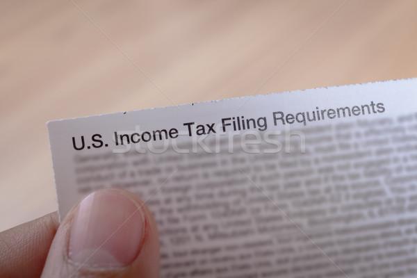 Vergi el iş finanse dolar finansal Stok fotoğraf © FrameAngel