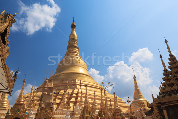 Shwedagon pagoda in Yangon, Burma (Myanmar) Stock photo © FrameAngel