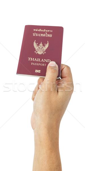 Tailandia pasaporte negocios mano viaje seguridad Foto stock © FrameAngel