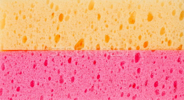 Gąbki mycia dysku tekstury warstwa biały Zdjęcia stock © FrameAngel