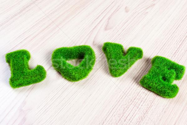 Vert amour herbe artificielle herbe résumé Photo stock © FrameAngel
