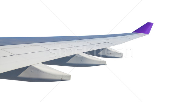 Wing airplane, on white background Stock photo © FrameAngel