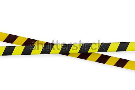 yellow and black warning  tape Stock photo © FrameAngel