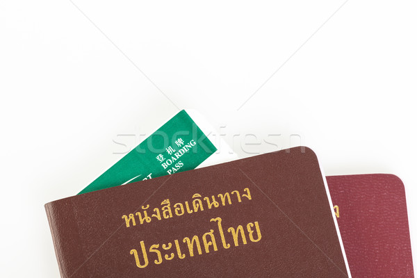 паспорта Таиланд путешествия белый безопасности штампа Сток-фото © FrameAngel