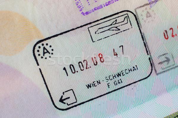 útlevél bélyeg VISA utazás Párizs Franciaország Stock fotó © FrameAngel