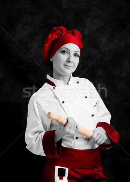 Kucharz wałkiem Fotografia młodych kobiet ręce Zdjęcia stock © Francesco83