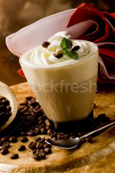 Cappucino with whipped cream Stock photo © Francesco83