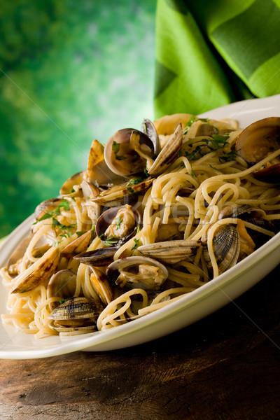 Tészta fotó finom étel tányér főzés Stock fotó © Francesco83