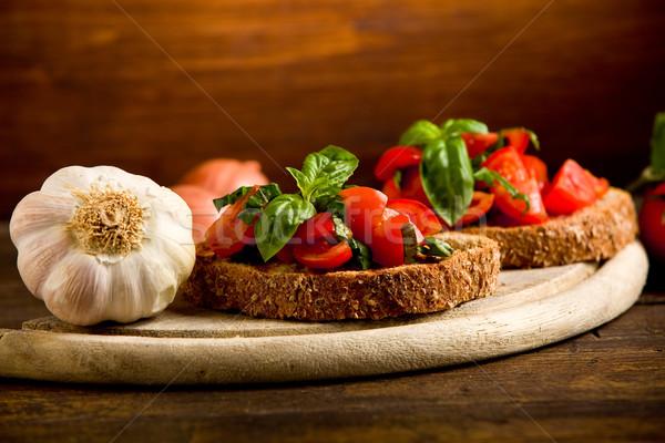 Bruschetta antipasto fresche pomodori foto Foto d'archivio © Francesco83