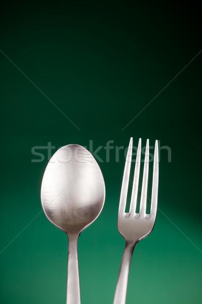 Argenterie photo fourche cuillère coloré alimentaire Photo stock © Francesco83