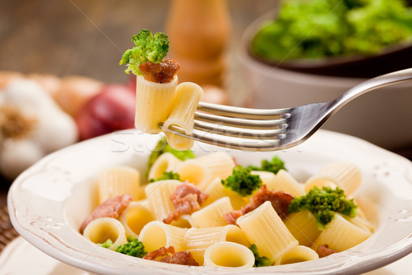 Pasta with sausage and broccoli Stock photo © Francesco83