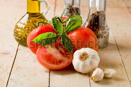 Stock photo: Italian main ingredients