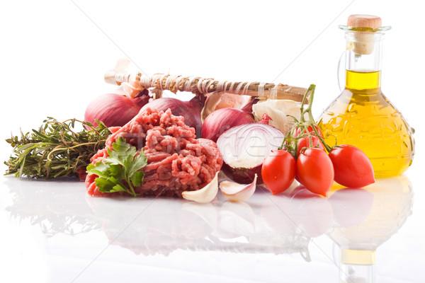 Ингредиенты итальянский томатном соусе фото различный продовольствие Сток-фото © Francesco83
