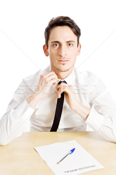 Nervoso foto homem de negócios jogar amarrar homem Foto stock © Francesco83
