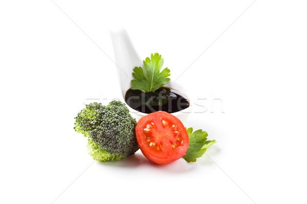 Салат фото органический белый изолированный продовольствие Сток-фото © Francesco83