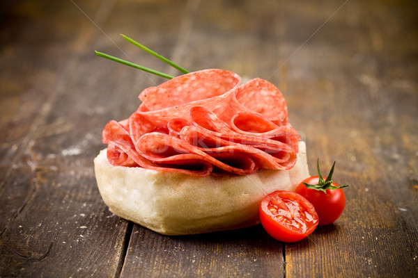 Salami Sandwich Stock photo © Francesco83