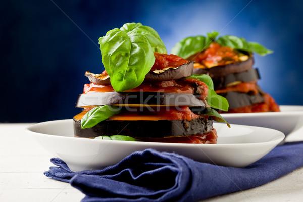томатном соусе фото баклажан блюдо листьев Сток-фото © Francesco83