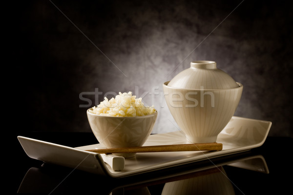 Rice with chopsticks Stock photo © Francesco83