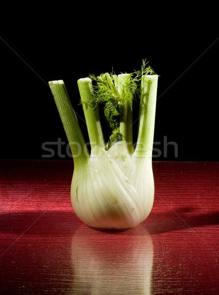 Fennel on Red Glasstable Stock photo © Francesco83