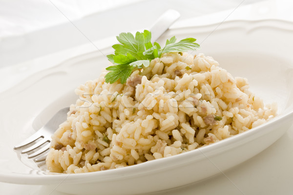 Risotto with italian meet  - Risotto alla Mantovana Stock photo © Francesco83