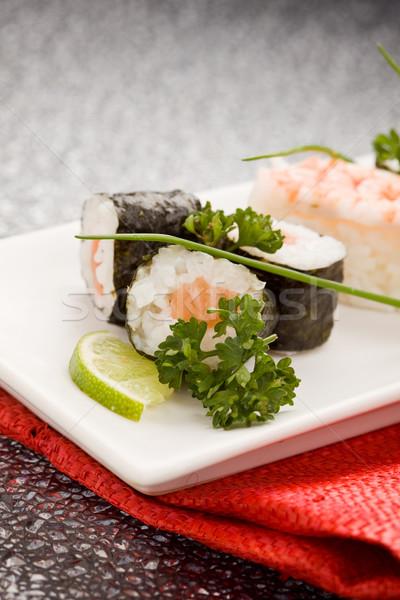 суши сашими фото продовольствие прямоугольный Сток-фото © Francesco83
