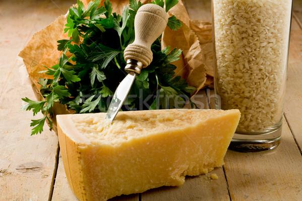 Ingredientes risotto queijo foto delicioso fresco Foto stock © Francesco83
