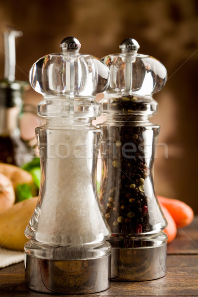 Salt and Pepper Mill Stock photo © Francesco83