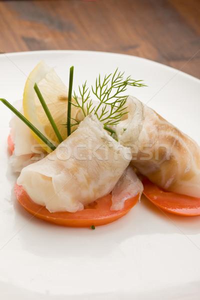 Sea Bass rolls with tomatoes Stock photo © Francesco83