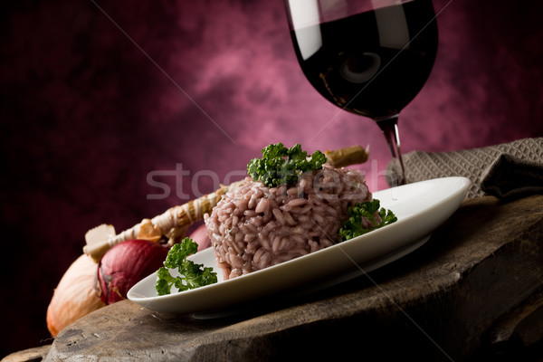 Risotto with red wine Stock photo © Francesco83