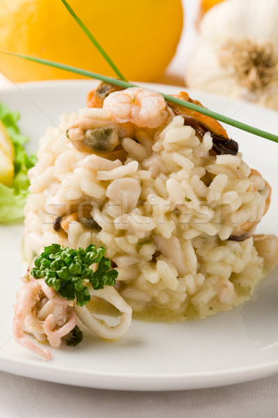 Risotto with Seafood Stock photo © Francesco83